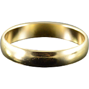 10K 4.1mm Plain Wedding Band Men's Ring Size 9.25 Yellow Gold