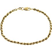 "14K 2.9mm Chain Link Bracelet 7.25"" Yellow Gold"