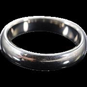 Palladium Rounded Plain Wedding Band Ring Size 11.5