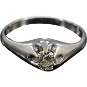 18K 0.60 Ct Round 6 Prong Solitaire K/SI2 Diamond Engagement Ring Size 9.5 White Gold