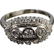 14K Antique 1.00 Ctw Round G-I/VS-SI Diamond Engagement Ring Size 9.5 White Gold