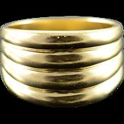 10K Multi Hump Ripple Ring Size 6.75 Yellow Gold