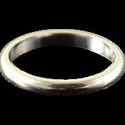 14K 3.4mm Plain Wedding Band Ring Size 5.75 White Gold