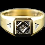 10K Genuine Diamond Men's Wedding Band Ring Size 10 Yellow Gold