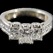 14K GSI 3.10 Ctw Radiant Cut H VS2 Diamond Engagement Ring Size 7 White Gold