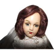 "Stunning Vintage Composition Arranbee R & B ""Debu'teen Doll"" In Wedding Gown 18"" Tall Circa 1938"