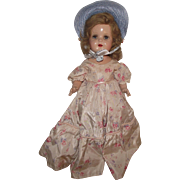 """Beautiful Vintage Composition Arranbee R & B """"Nancy Doll"""" In Original Outfit 17"""" Tall Circa 1938 (B)"""