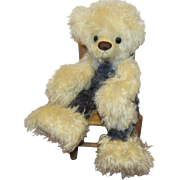 "OOAK Large Adorable Teddy Bear ""BILLIE JEAN"" Artist Peggy Deyle"