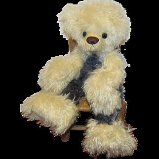 "OOAK Large Adorable Teddy Bear ""BILLIE JEAN"" Artist Peggy Deyle"