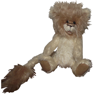 "OOAK Adorable Mohair ""Roary "" The Lion Artist Daphne Blair"