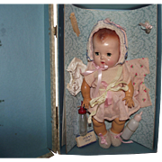 """Vintage American Character """"TINY TEARS DOLL"""" In Original Box 12"""" CIRCA 1950"""