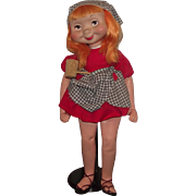 "Vintage American Character Whimsie doll ""HILDA THE HILLBILLY"" 22"", W/HTF Corn Pipe Circa 1960"