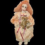 "Wonderful Poured Wax  L.E. 5/95 Artist Doll ""Viola"" 18"" Artist Signed Vicki L. Gunnell"