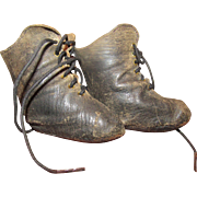 Wonderful Antique Leather Doll Boots French/German Doll