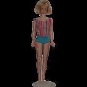 Vintage Blonde Long Hair American Girl Barbie In Original Swimsuit #1070