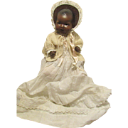 """Beautiful Large 20"""" German Bisque Black AM Dream Baby on a Composition Body"""
