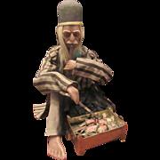 "Large Rare Antique Wax Chinese Smoker Nodder Doll 20"""