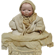 Vintage Large German Bisque Bye Lo Baby By Putnam 17""