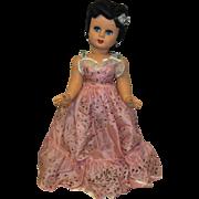 "Lovely Large Vintage Italian Bonomi Flirty Eyes Doll 25"" Circa 1950's"