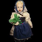 Vintage Italian Felt Character Cloth Doll