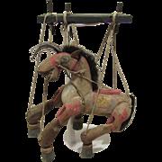 Rare Vintage Carved Wood Horse Puppet