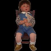 "Wonderful Large 25"" Dianne Dengel Cloth Character Boy Doll - Red Tag Sale Item"