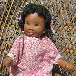 "Wonderful 10"" Dianne Dengel Cloth Character Doll With Smiling Features"