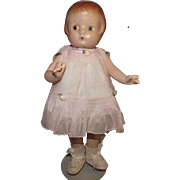 """Gorgeous Vintage Composition Effanbee """"Patsyette"""" doll In Original Outfit 9"""" Circa 1946"""
