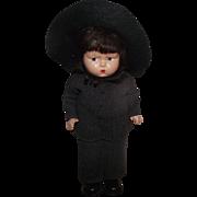 """Vintage Effanbee Grumpy Face  Rare """"Amish Boy"""" In Original Outfit 12"""" Circa 1939"""