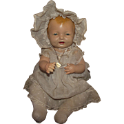 """Gorgeous Vintage Effanbee 18"""" """"Bubbles Doll"""" In Original Outfit Circa 1925"""