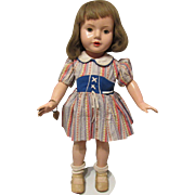 "Vintage Effanbee RARE & HTF Dewees Cochran American Children Doll 17"" Tall Circa 1936"