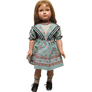 "Vintage Effanbee RARE & HTF Dewees Cochran All Original Effanbee American Children Portrait  Doll 20"" Tall Circa 1936"