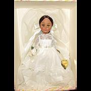 "Gorgeous Vintage Mint In Box  Effanbee Black Bride Doll 14"" Circa 1950's"