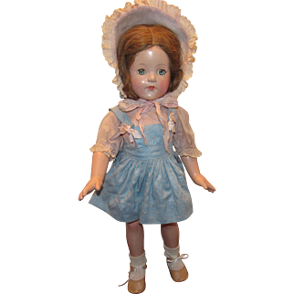 """Gorgeous Vintage Effanbee Large 21"""" """"Anne Shirley Doll"""" Circa 1935"""
