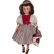 "MIB Vintage Eegee High Color ""Little Debutante"" Original wrist tag, 17"" Tall Circa 1957"