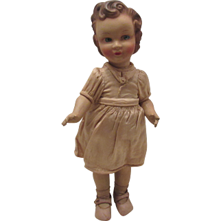 """Wonderful French Doll In Original Clothing 13"""" Early 1900's"""