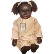 "A Distinctive Exceptional Folk Art Wood Resin Doll By Maynard Arnett ""JESSIE"""