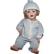 "Hertel, Schwab & Co. #152 Antique German Bisque Character Baby 13"" Too Cute!"