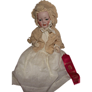 "Adorable German Bisque 17"" Hertel Schwab 151 Bisque Dome Head Character Baby Doll"