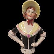 "German China Half Doll 4 1/2"" tall"