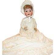 """Adorable Life Size Heubach Kopplesdorf Large 25"""" Baby with Waggly Tongue"""