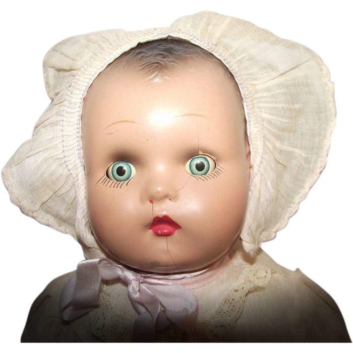 Vintage  Horsman Dolls Baby Doll Composition With Cloth Body