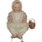 """Gorgeous Vintage """"Baby Dimples"""" By Horsman In Original Outfit 20"""" Circa 1928"""