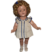 """Vintage Ideal Composition """"SHIRLEY TEMPLE DOLL"""" In Original Outfit 18"""" Circa 1934"""