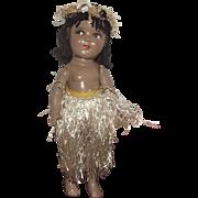 "Vintage Rare All Composition 13"" Hawaiian Shirley Temple Doll"