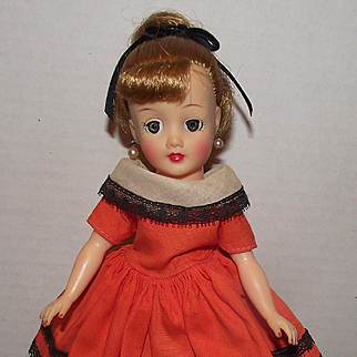 """Vintage Blonde Hair """"Little Miss Revlon Doll"""" In Tag Outfit, Circa 1957"""