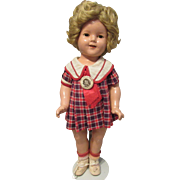 "Vintage Ideal Composition ""SHIRLEY TEMPLE DOLL"" In Original Outfit 19"" Circa 1934"