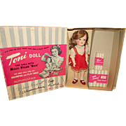 """Vintage Ideal Beautiful All Original Toni Doll In Original Box With Tagged Outfit 16"""" Circa 1949"""