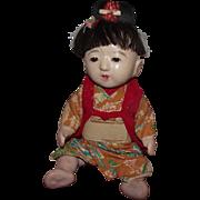 "Vintage Japanese Ichimatsu Gofun Japanese Doll 12"" Circa 1930's"