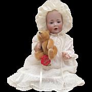 "Adorable Antique German Bisque Kestner Beautiful ""Baby Hilda"" Circa 1910"